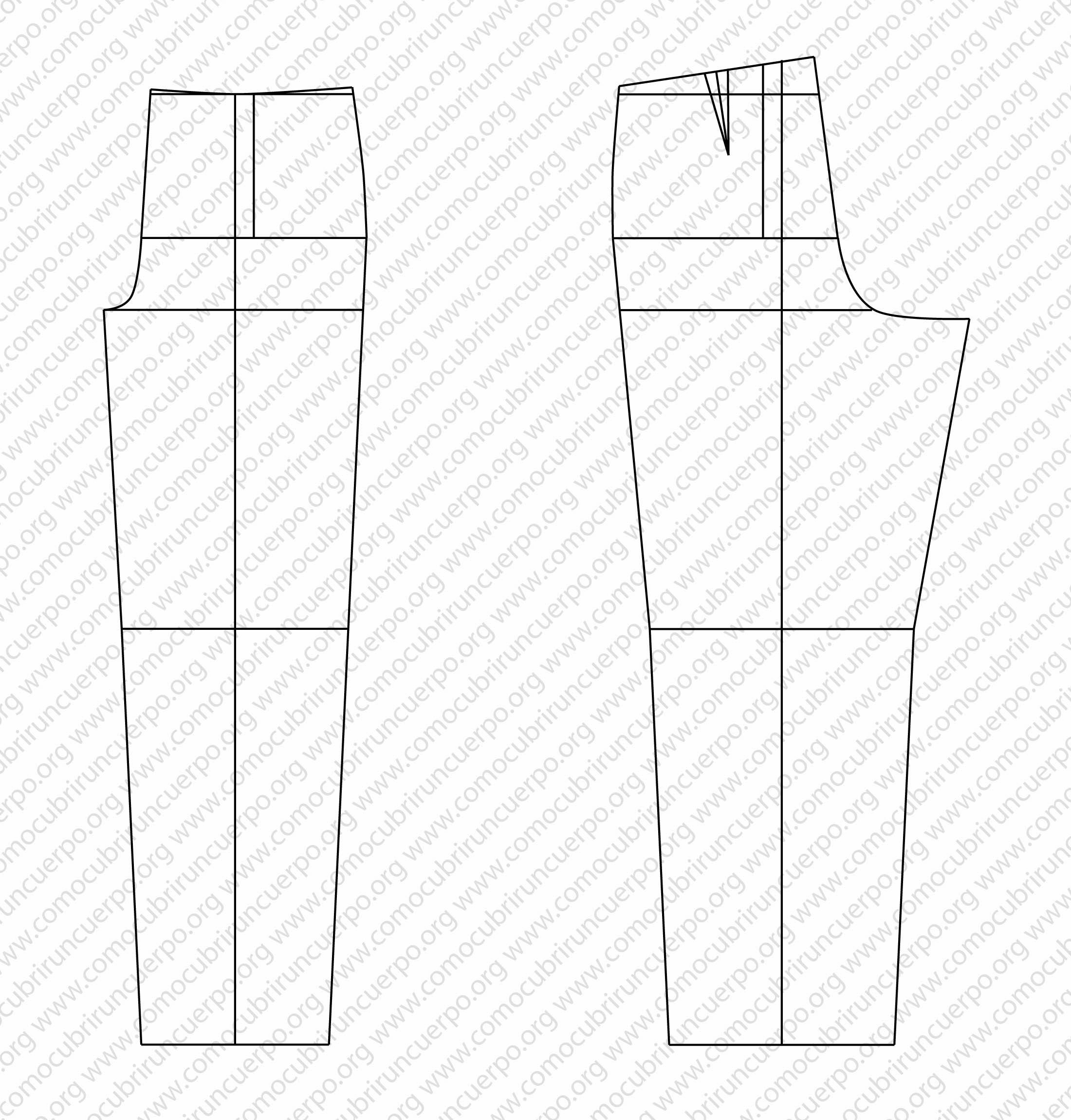 Pantalón clásicocon pliegues. | Cómo cubrir un cuerpo
