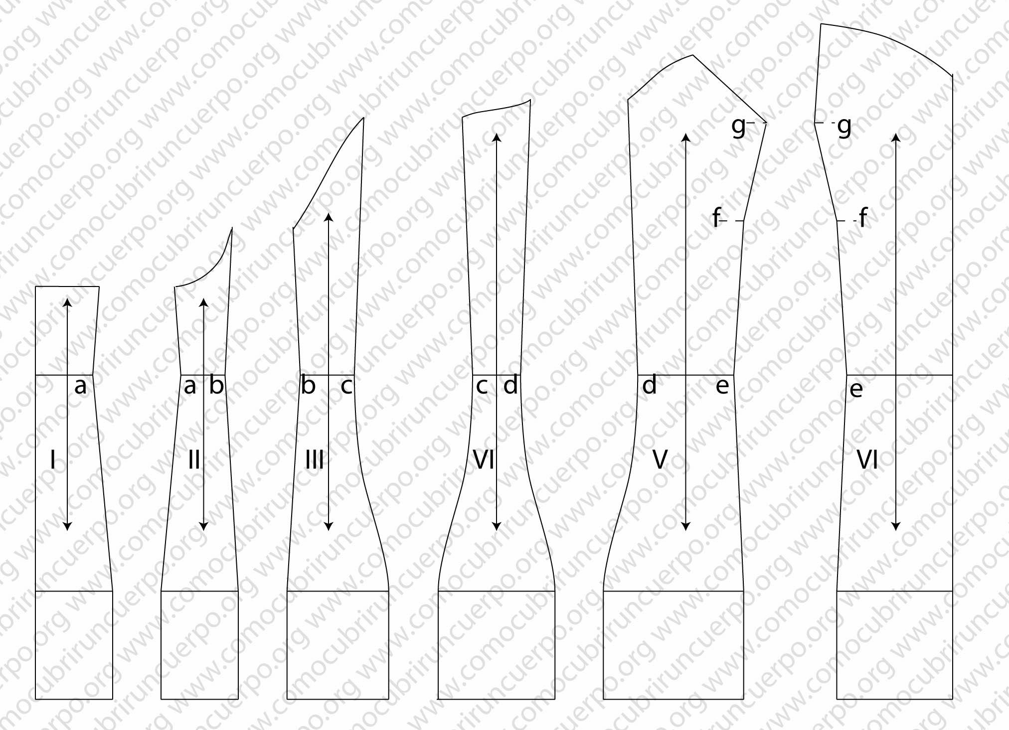trazado base del corsé femenino. | Cómo cubrir un cuerpo