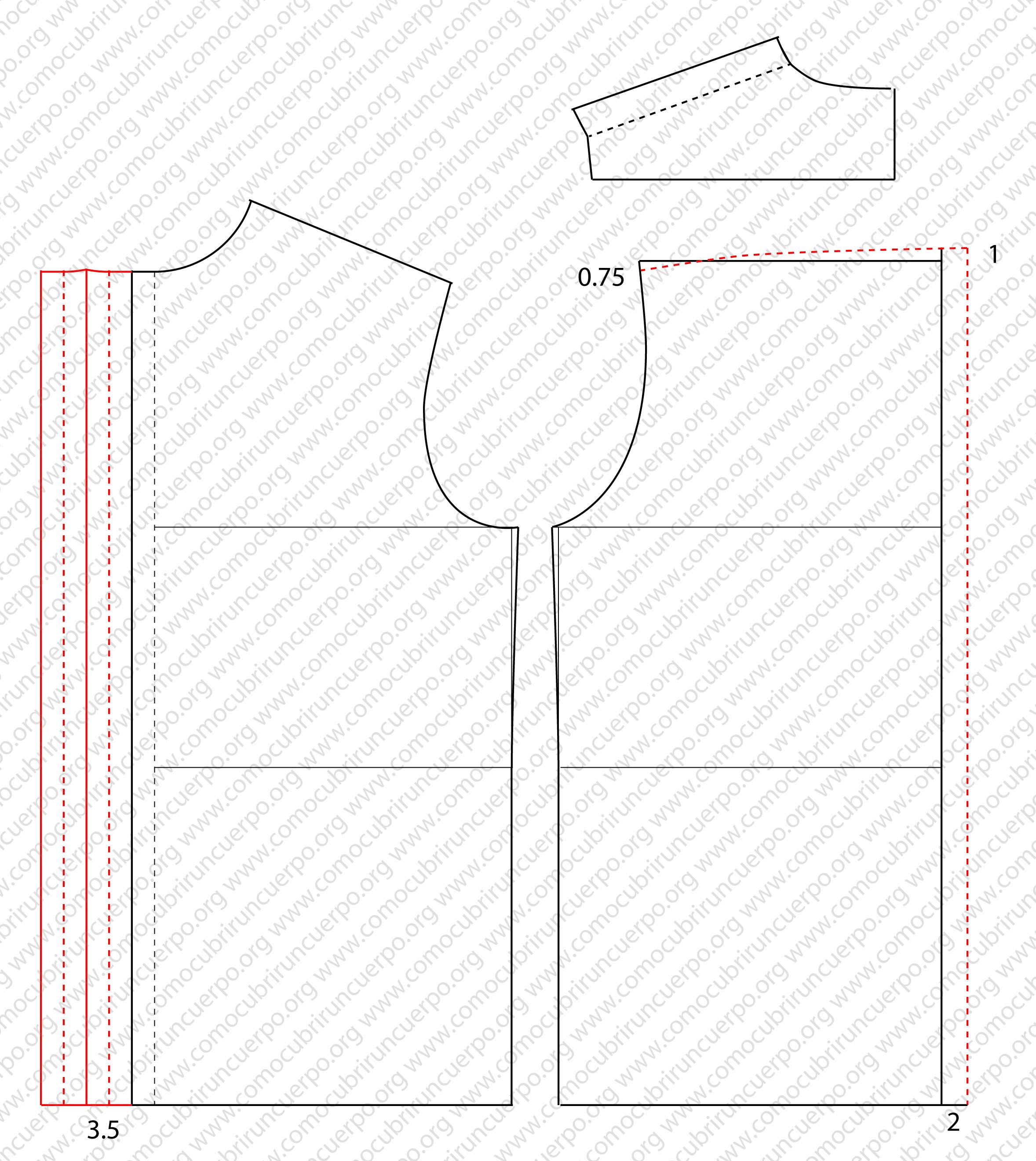 Trazado base de la camisa el cuerpo | Cómo cubrir un cuerpo