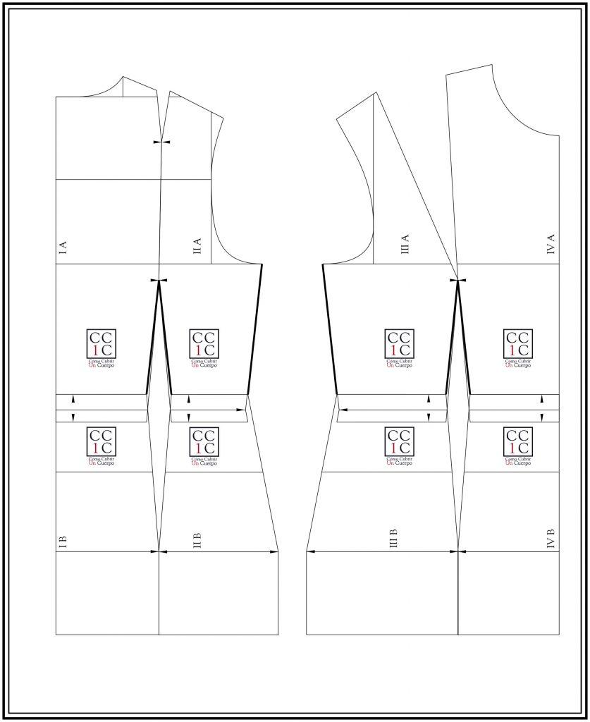Cómo cubrir un cuerpo ajuste del talle del cuerpo base femenino